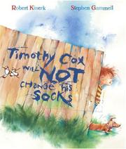 Book Cover for TIMOTHY COX WILL NOT CHANGE HIS SOCKS