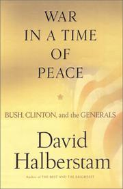 Book Cover for WAR IN A TIME OF PEACE