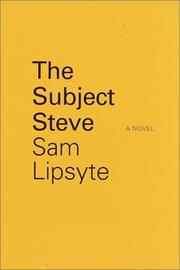 Book Cover for THE SUBJECT STEVE