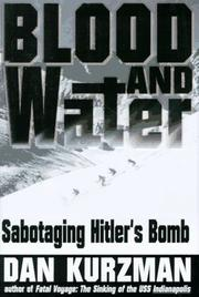 Cover art for BLOOD AND WATER
