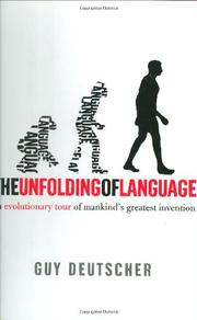 Book Cover for THE UNFOLDING OF LANGUAGE