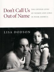 Book Cover for DON'T CALL US OUT OF NAME