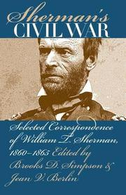 Cover art for SHERMAN'S CIVIL WAR