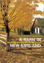 Cover art for A BARN IN NEW ENGLAND