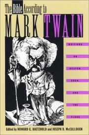 Book Cover for THE BIBLE ACCORDING TO MARK TWAIN