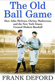 Cover art for THE OLD BALL GAME