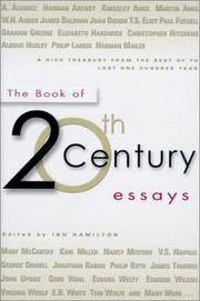Cover art for THE BOOK OF 20TH CENTURY ESSAYS