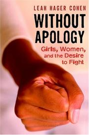 Book Cover for WITHOUT APOLOGY
