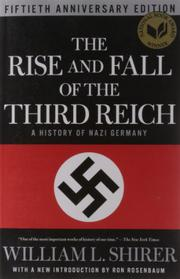 Cover art for THE RISE AND FALL OF THE THIRD REICH