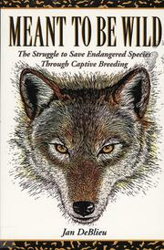 Book Cover for MEANT TO BE WILD