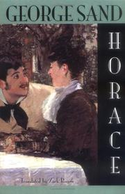 Cover art for HORACE