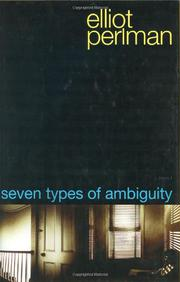 Cover art for SEVEN TYPES OF AMBIGUITY