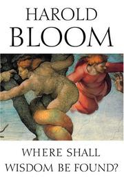Book Cover for WHERE SHALL WISDOM BE FOUND?