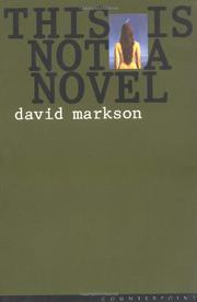 Cover art for THIS IS NOT A NOVEL