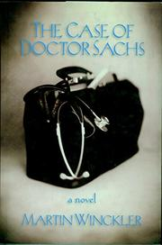 Cover art for THE CASE OF DOCTOR SACHS