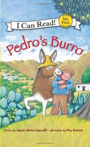 Cover art for PEDRO'S BURRO