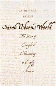 Book Cover for SARAH OSBORN'S WORLD