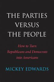 Book Cover for THE PARTIES VERSUS THE PEOPLE