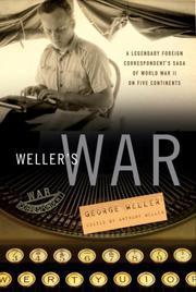 Cover art for WELLER'S WAR