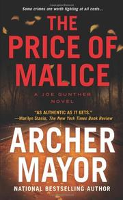 Book Cover for THE PRICE OF MALICE
