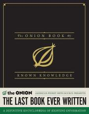 Cover art for THE ONION BOOK OF KNOWN KNOWLEDGE