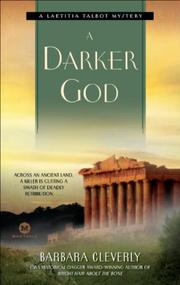 Cover art for A DARKER GOD