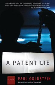 Cover art for A PATENT LIE