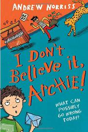 Cover art for I DON'T BELIEVE IT, ARCHIE!