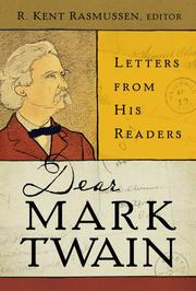 Book Cover for DEAR MARK TWAIN