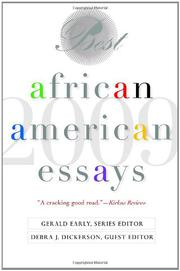 Cover art for BEST AFRICAN AMERICAN ESSAYS: 2009
