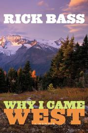 Book Cover for WHY I CAME WEST