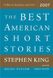 Cover art for THE BEST AMERICAN SHORT STORIES 2007