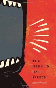Cover art for THE HARM IN HATE SPEECH