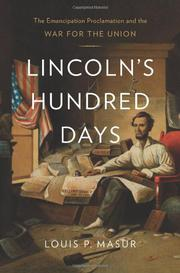 Cover art for LINCOLN'S HUNDRED DAYS