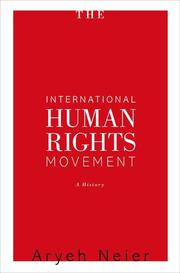 Book Cover for THE INTERNATIONAL HUMAN RIGHTS MOVEMENT