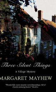 Cover art for THREE SILENT THINGS