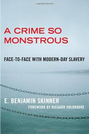 Cover art for A CRIME SO MONSTROUS