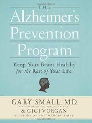 Book Cover for THE ALZHEIMER'S PREVENTION PROGRAM