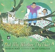 Cover art for DID MY MOTHER DO THAT?