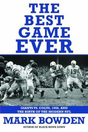 Book Cover for THE BEST GAME EVER