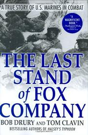 Cover art for THE LAST STAND OF FOX COMPANY
