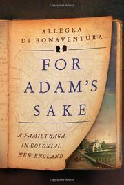 Book Cover for FOR ADAM'S SAKE