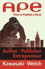Book Cover for APE: AUTHOR, PUBLISHER, ENTREPRENEUR