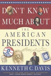 Book Cover for DON'T KNOW MUCH ABOUT THE AMERICAN PRESIDENTS