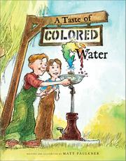 Book Cover for A TASTE OF COLORED WATER