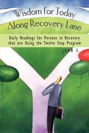 Book Cover for WISDOM FOR TODAY ALONG RECOVERY LANE