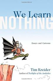 Cover art for WE LEARN NOTHING