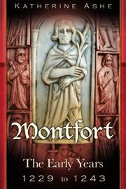 Cover art for MONTFORT THE FOUNDER OF PARLIAMENT