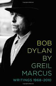 Cover art for BOB DYLAN BY GREIL MARCUS