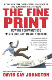 Book Cover for THE FINE PRINT